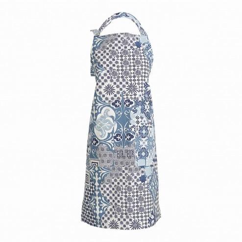 Linum schort Mosaique, blauw