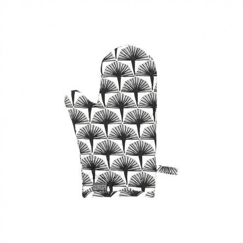 Linum ovenwanten Embla, antraciet grafisch