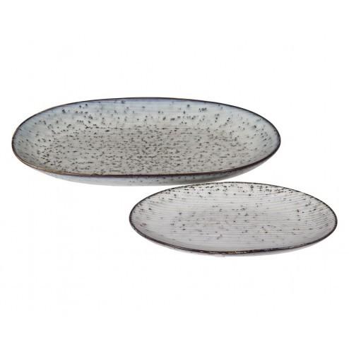 Broste Nordic ovale borden (set van twee)