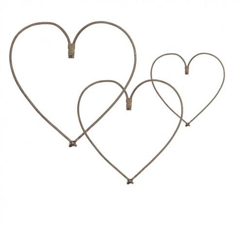 Broste decoratie harten Uve van rotan