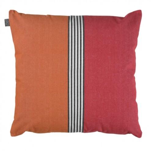 Linum kussenhoes Tjarven oranje en rood, 50x50cm