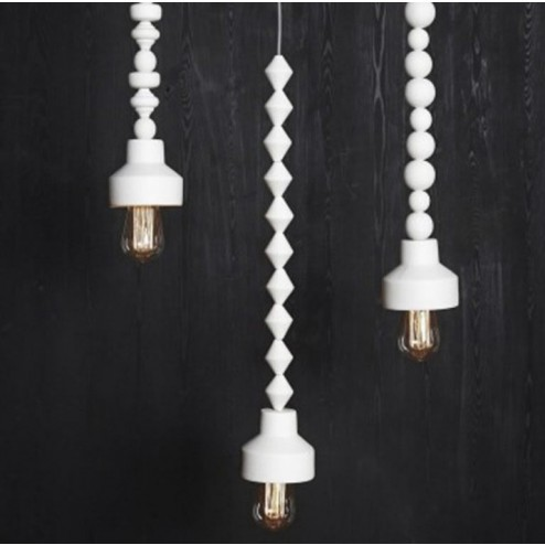 Hübsch Interior hanglampen van porcelein (set van 3)