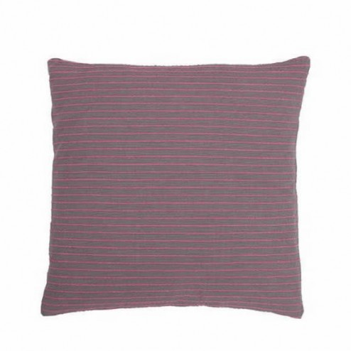 Kussenhoes antraciet / roze gestreept, 50x50 cm
