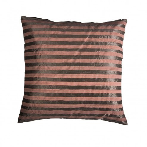 Kussenhoes Stripe Poly, roze/taupe gestreept, 60x60 cm