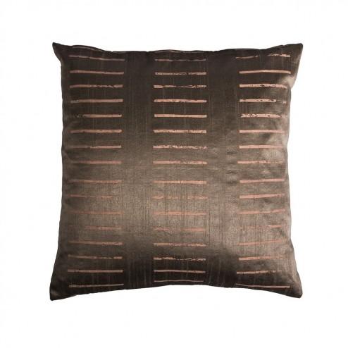Kussenhoes Cut Stripe, metallic bruin/roze gestreept, 50x50 cm