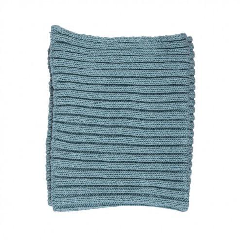 Vaatdoek Knit, turquoise, 25x25 cm