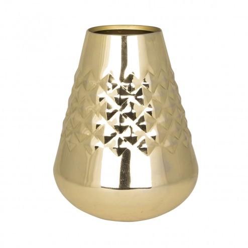 Broste vaas Diamond, goud/metaal