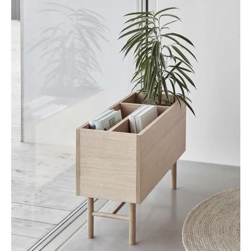 Hübsch staande plantenbak van grijs metaal