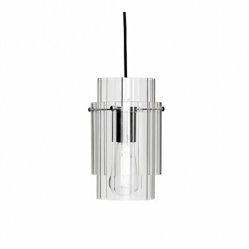 Hübsch Interior hanglamp van glas en metaal, Ø14cm