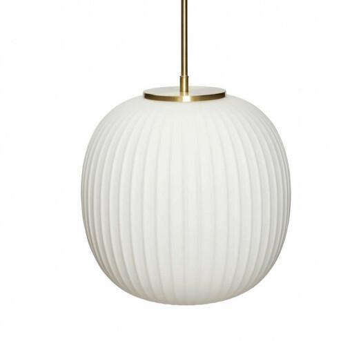 Hübsch Interior hanglamp van melkglas en messing, Ø32cm