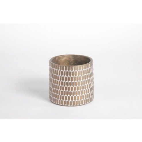 Bloempot Flounce metallic (klein: 13.5x10cm)