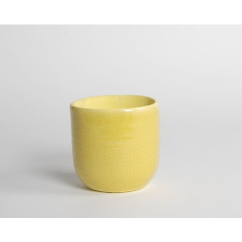 Bloempot Africa geel ( klein )