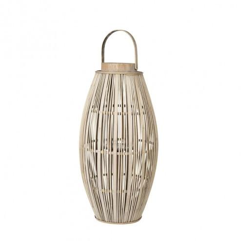 Broste lantaarn Aleta van hout en bamboe 62.5cm