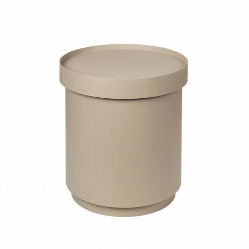 Broste koffietafel Ninna met opslag, Ø75cm, beige