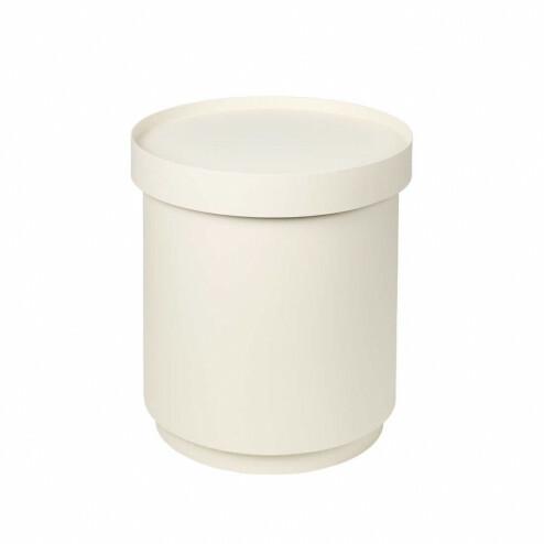 Broste bijzettafel Ninna met opslag, Ø35cm, wit