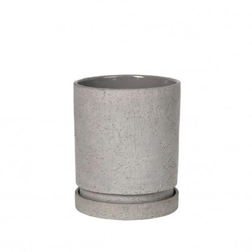 Broste bloempot Polaris, grijs aardewerk, Ø14cm