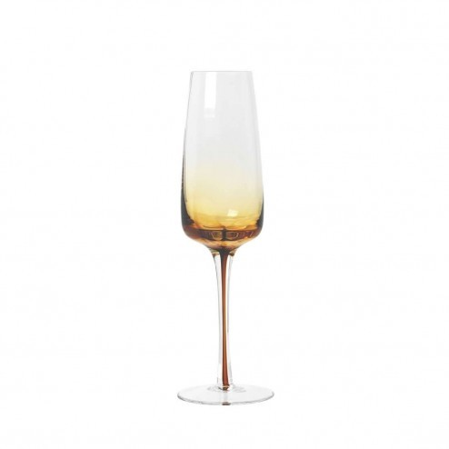 Broste Amber champagne glas, 20cl