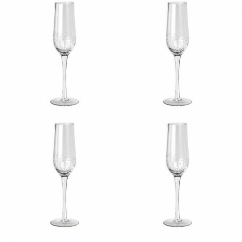Broste Bubble champagneglas (4 stuks), 20cl