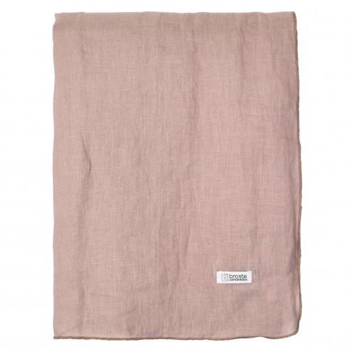 Broste Copenhagen tafelkleed Gracie van linnen, oud roze, 160x300cm