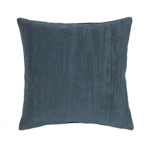 Broste kussenhoes Hjalte van katoen, 50x50cm, petrolblauw