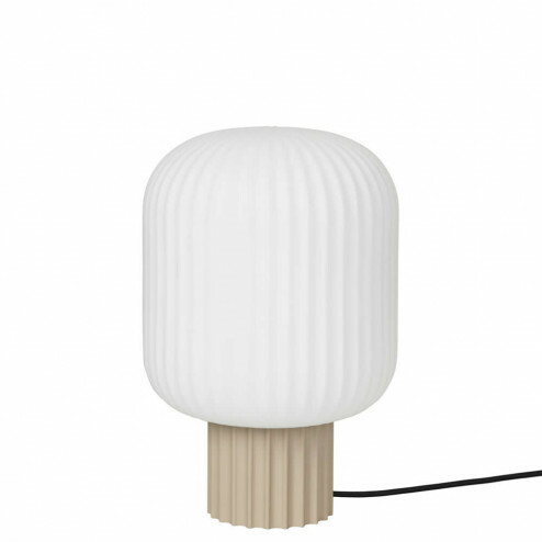Broste Copenhagen glazen tafellamp Lolly, Ø20cm