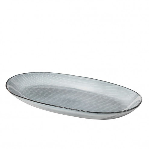 Broste Nordic Sea ovaal bord, medium (30cm)