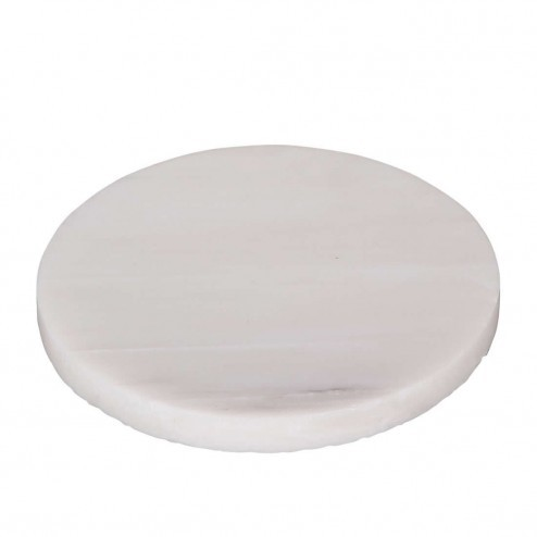 Broste Copenhagen onderzetter 'Marble', wit marmer, 12cm