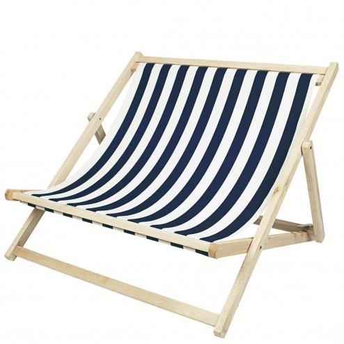Broste dubbele strandstoel 'Rest', gestreept