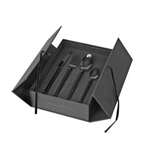 Broste Tvis bestekset (4x4), titanium zwart