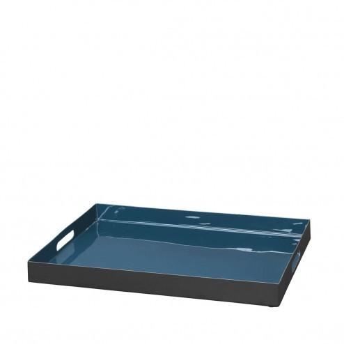 Broste Copenhagen dienblad Kaare, donkerblauw metaal