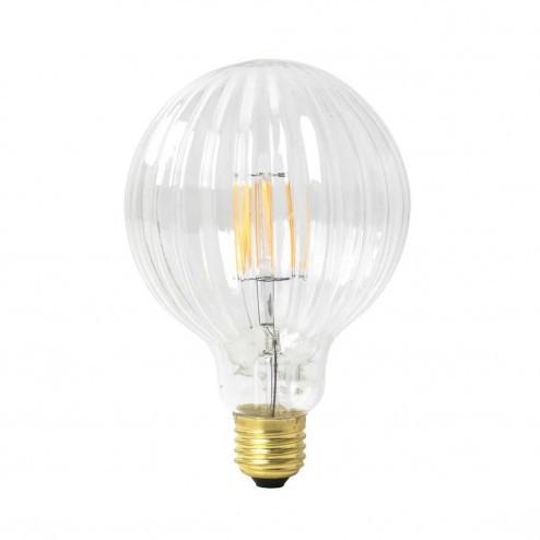 Broste Copenhagen ledlamp Frill van geribbeld glas, ø10cm