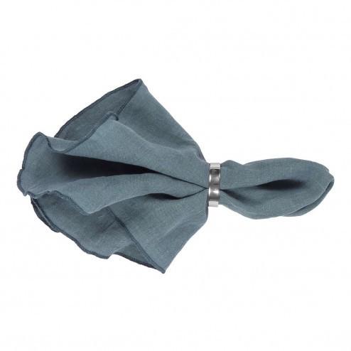 Broste servet Gracie van linnen in blauw
