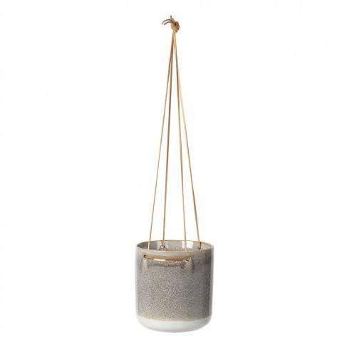 Broste Copenhagen hangende bloempot Almas in zacht taupe, Ø16,5cm
