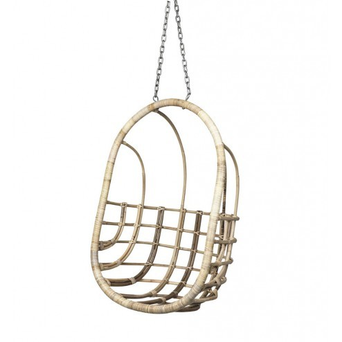 Broste hangstoel Egg chair, rotan