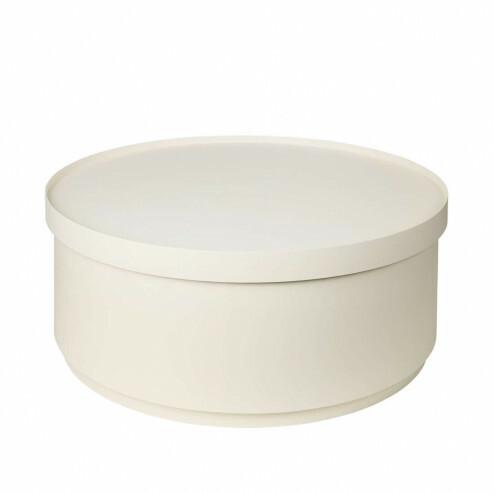 Broste koffietafel Ninna met opslag, Ø75cm, wit