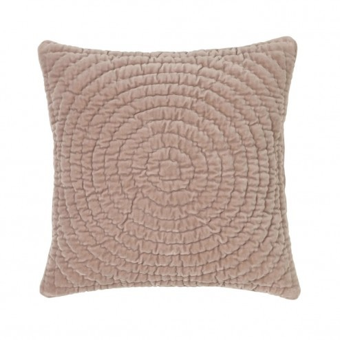 Broste kussenhoes Quilt Ring in zacht roze, 50x50cm