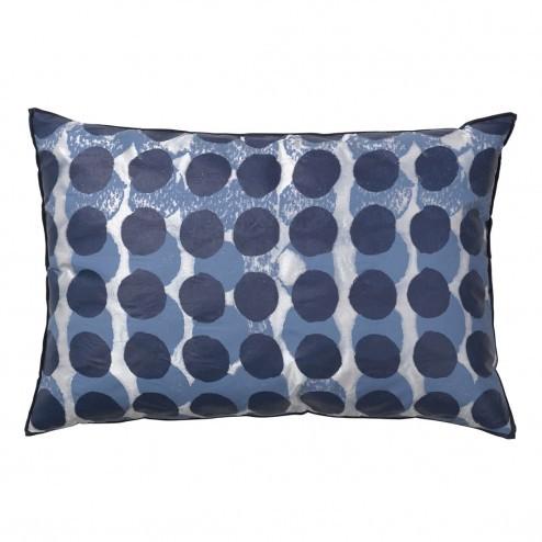 Broste kussenhoes Shadows blauw, 40x60 cm