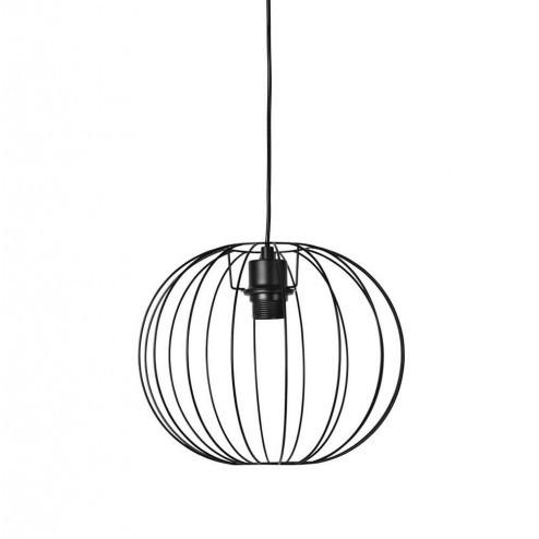 Broste hanglamp Wires in zwart metaal