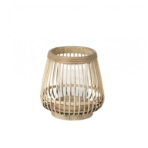 Broste lantaarn Cait van hout en bamboe