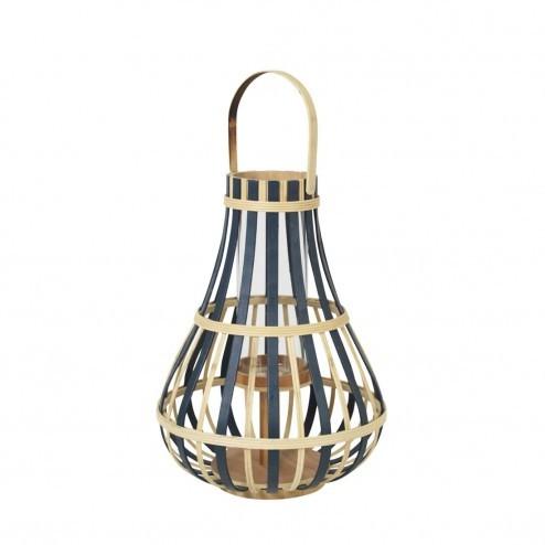 Broste lantaarn Kalle van bamboe, 44cm hoog