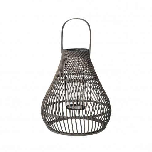 Broste Copenhagen lantaarn Twist, bamboe, 43cm