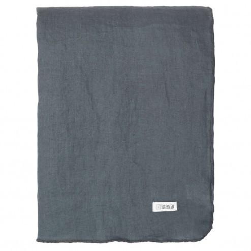Broste tafelkleed Gracie van linnen, petrol blauw, 160x300cm