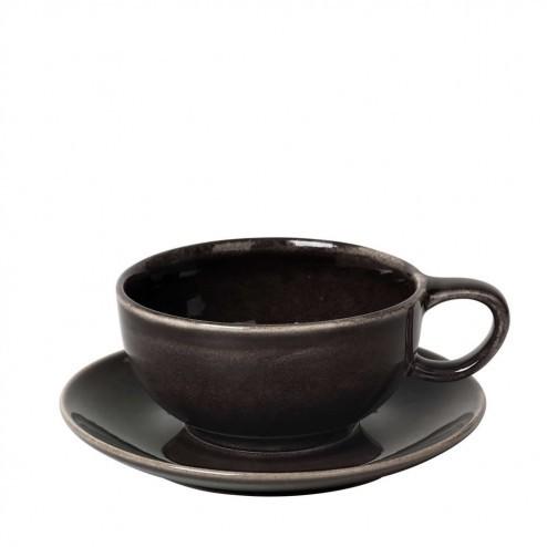 Broste Nordic Coal cappuccino kop en schotel
