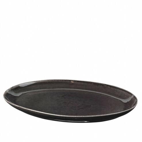 Broste Nordic Coal groot ovaal bord, 35,5cm