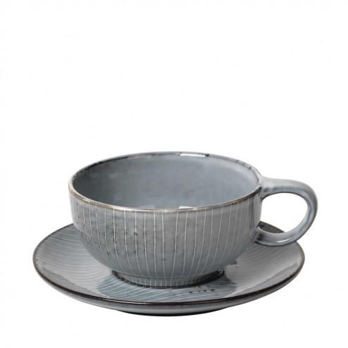 Broste Nordic Sea cappuccino kop en schotel