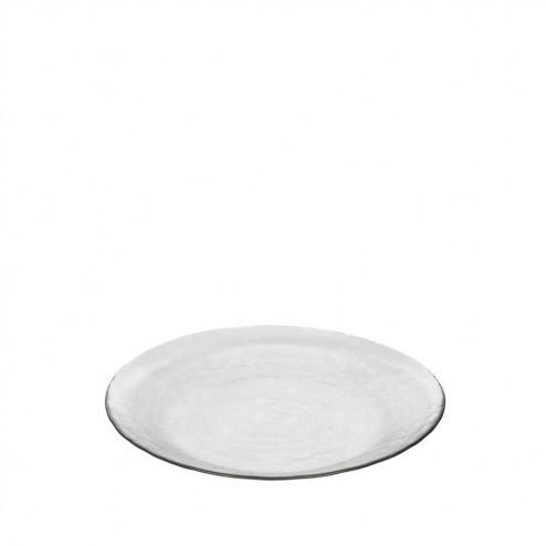 Broste ontbijtbord Hammered, glas, Ø22.5cm