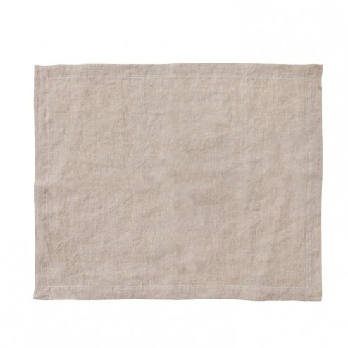 Broste placemat Gracie van linnen in taupe