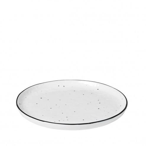 Broste Salt dessertbord met stippen 18cm, porselein