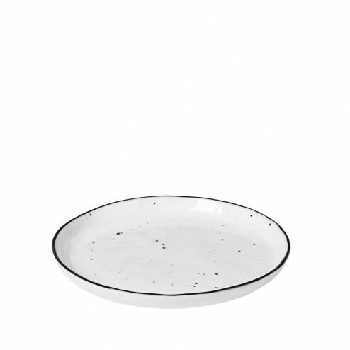 Broste Salt dessertbordje met stippen 13cm