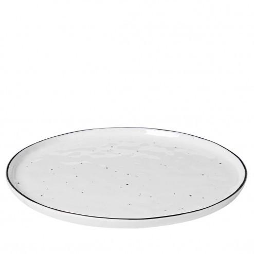 Broste Salt dinerbord met stippen 28cm, porselein